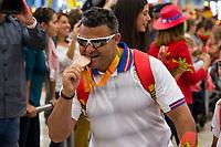 Spanish's paralympic David Casinos arrive to Madrid Adolfo Suarez airport after the Paralympics of Rio 2016 . September 21, 2016. (ALTERPHOTOS/Rodrigo Jimenez)