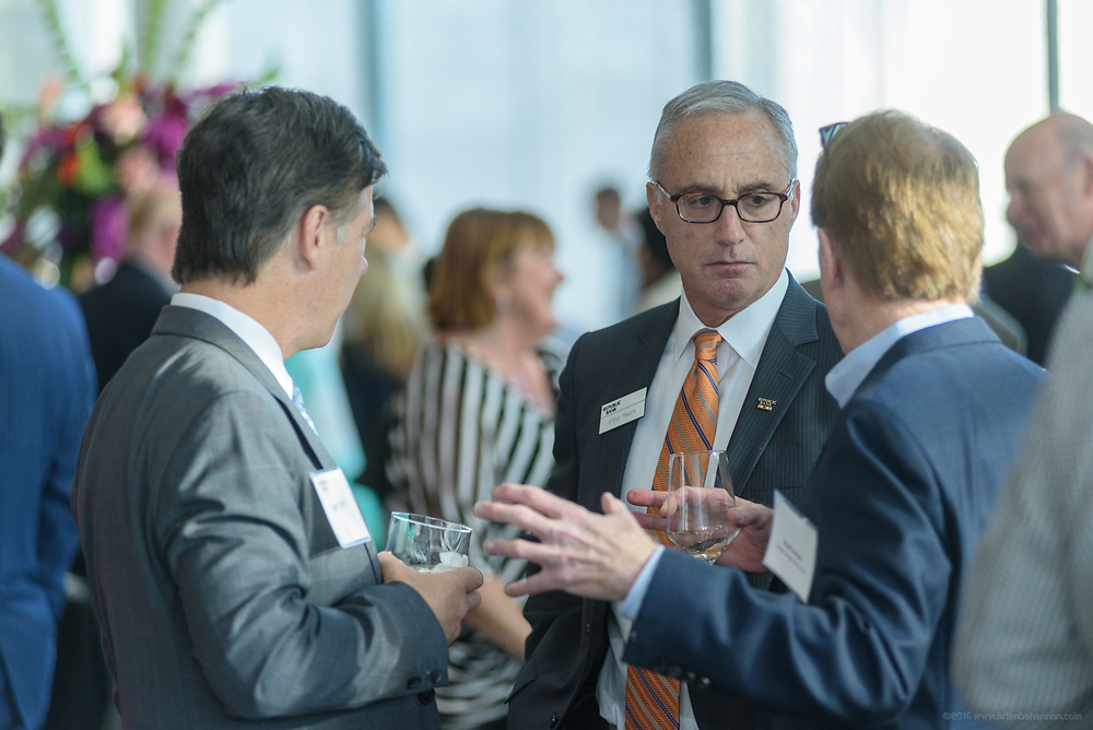 Repubilc Bank Chairman and CEO Steve Trager mingles with guests at the 10-year anniversary celebration of Republic Bank's Private Banking and Business Banking divisions Wednesday, May 17, 2017, at the Speed Museum in Louisville, Ky. (Photo by Brian Bohannon)
