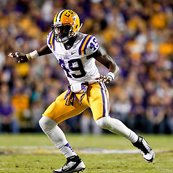 November 10, 2012; Baton Rouge, LA, USA;  LSU Tigers defensive end Barkevious Mingo (49) during a game against the Mississippi State Bulldogs at Tiger Stadium.  Mandatory Credit: Derick E. Hingle-US PRESSWIRE