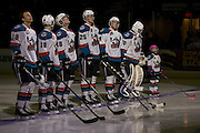 KELOWNA, CANADA - JANUARY 18:  Pepsi player of the game in the lineup at the Kelowna Rockets game on January 18, 2017 at Prospera Place in Kelowna, British Columbia, Canada.  (Photo By Cindy Rogers/Nyasa Photography,  *** Local Caption *** Michael Herringer #30 of the Kelowna Rockets, Gordie Ballhorn #4 of the Kelowna Rockets, Cal Foote #25 of the Kelowna Rockets, Kole Lind #16 of the Kelowna Rockets, Dillon Dube #19 of the Kelowna Rockets, Carsen Twarynski #18 of the Kelowna Rockets