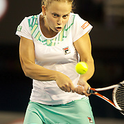 Jelena Dokic on Australia  during her victory over Alisa Kleybanova of Russia at the Australian Tennis Open on January 25, 2009 in Melbourne, Australia. Photo Tim Clayton    .