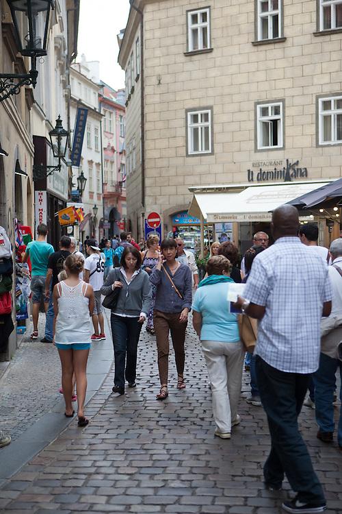 Corner Karlova/Jilska Street close to Old Town Square.