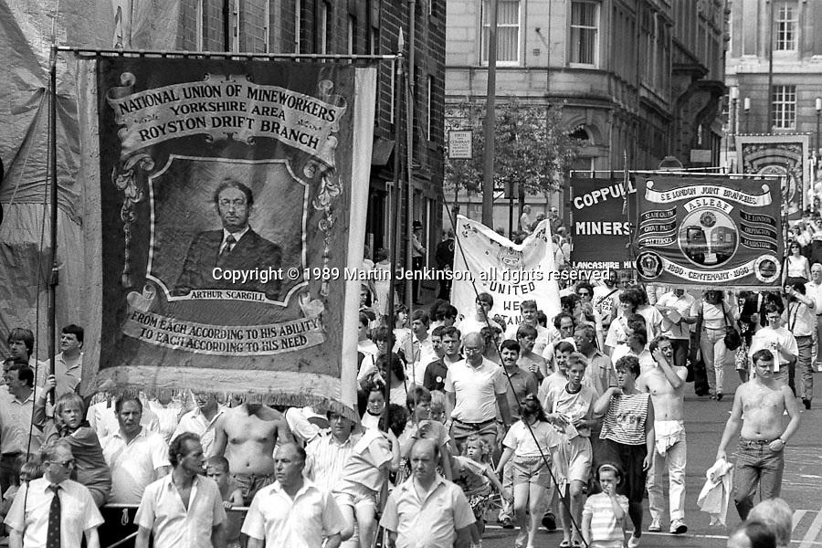 Royston Drift Branch banner. NUM Centenary Demonstration and Gala, Barnsley.