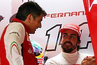 (L to R): Marco Mattiacci (ITA) Ferrari Team Principal with Fernando Alonso (ESP) Ferrari.<br /> Japanese Grand Prix, Saturday 4th October 2014. Suzuka, Japan.
