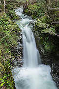 A meandering creek descends abruptly in this beautiful waterfall near Queenstown