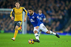 LIVERPOOL, ENGLAND - Tuesday, December 13, 2016: Everton's Aaron Lennon in action against Arsenal during the FA Premier League match at Goodison Park. (Pic by David Rawcliffe/Propaganda)