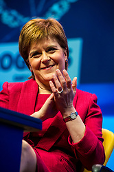 Pictured: Nicola Sturgeon, MSP, First Minister <br /> The members of the SNP gathered in the Scottish Events Centre in Glasgow for their annual conference.<br /> <br /> Ger Harley | EEm 8 October 2017