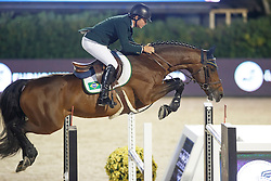 Amaral Felipe, (BRA), Premiere Carthoes Bz, FEI President<br /> Logines Challenge Cup<br /> Furusiyya FEI Nations Cup Jumping Final - Barcelona 2015<br /> © Dirk Caremans<br /> 25/09/15