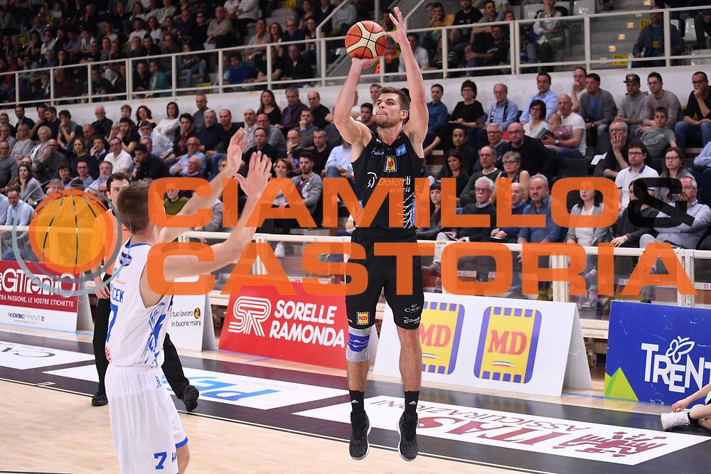 Ojars Silins<br /> Dolomiti Energia Aquila Basket Trento - Happy Casa New Basket Brindisi<br /> LegaBasket Serie A 2017/2018<br /> Trento, 08/04/2018<br /> Foto M.Ceretti / Ciamillo - Castoria