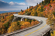 The Linn Cove Viaduct winds past the slopes of Grandfather Mountain.