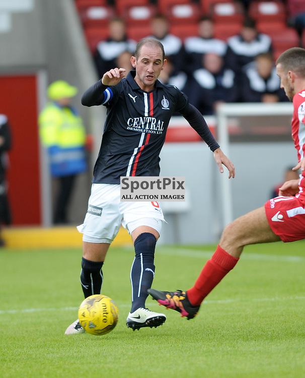 Mark Kerr (Falkirk, blue)<br /> <br /> Stirling Albion v Falkirk, Betfred Cup, Saturday 16th July 2016 <br /> <br /> (c) Alex Todd   SportPix.org.uk