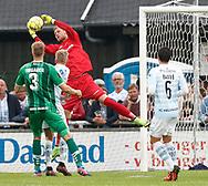 FODBOLD: Mikkel Bruhn (FC Helsingør) griber bolden under kampen i ALKA Superligaen mellem FC Helsingør og OB den 24. juli 2017 på Helsingør Stadion. Foto: Claus Birch