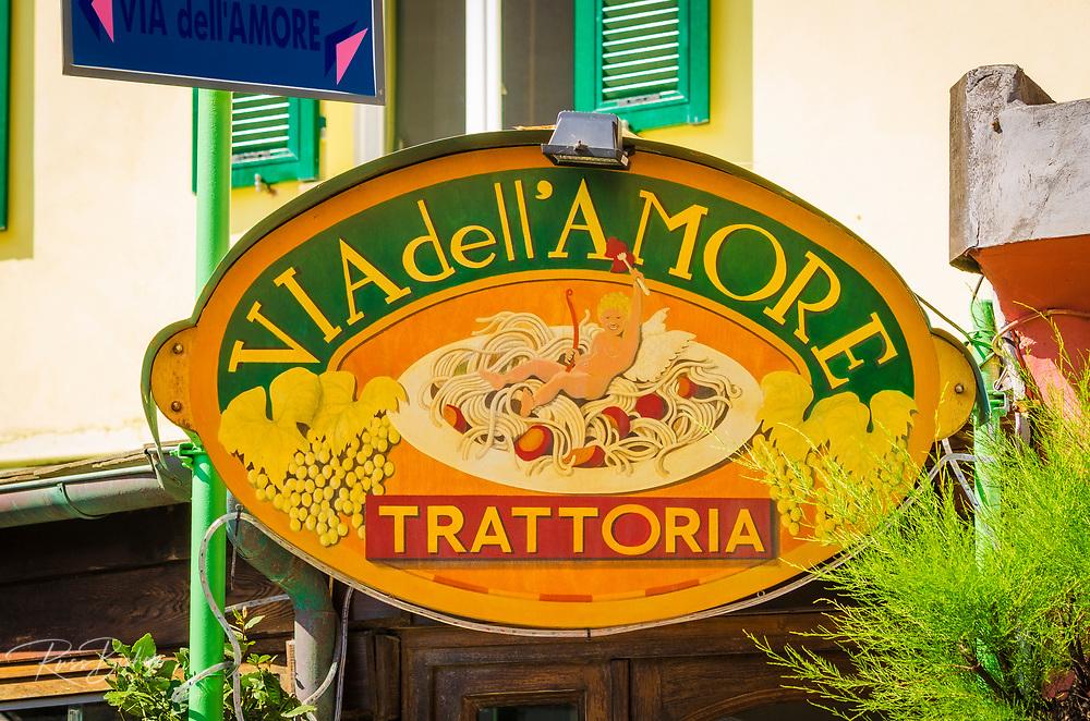 Restaurant along the Via dell'Amore (The Way of Love), Riomaggiore, Cinque Terre, Liguria, Italy