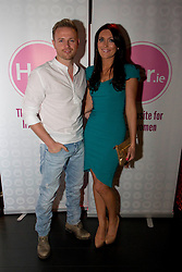 No fee for Repro: 5/06/2012. Nicky Byrne and Geogina Ahern pictured at the launch of Her.ie, an exciting new website aimed at Irish women. Pic Andres Poveda