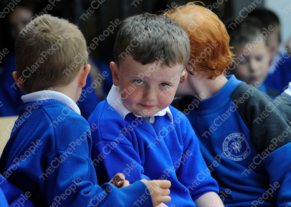 Conor Carrig at the presentation of the Green Flag at St. Senan's NS in Shannon.<br />Patrick McHugh