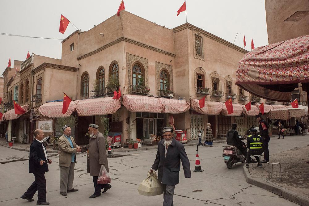 Kashgar. October 2nd, 2017<br /> On a street of old Kashgar.