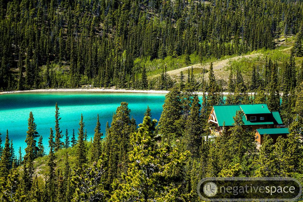 House along Emerald Lake, Carcross, Yukon Territory, Canada