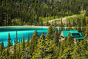 House along Emerald Lake, Carcross, Yukon Territory, Canada
