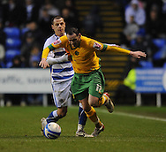 Reading - Saturday December 13th, 2008: Marek Matejovsky of Reading in action against David Bell of Norwich City during the Coca Cola Championship match at The Madjeski Stadium, Reading. (Pic by Alex Broadway/Focus Images)