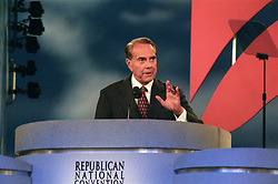 Former United States Senator Bob Dole (Republican of Kansas) delivers his speech accepting the nomination of the Republican Party to be its candidate for President of the United States at the San Diego Convention Center in San Diego, California on Thursday, August 15, 1996.<br /> Credit: Ron Sachs / CNP