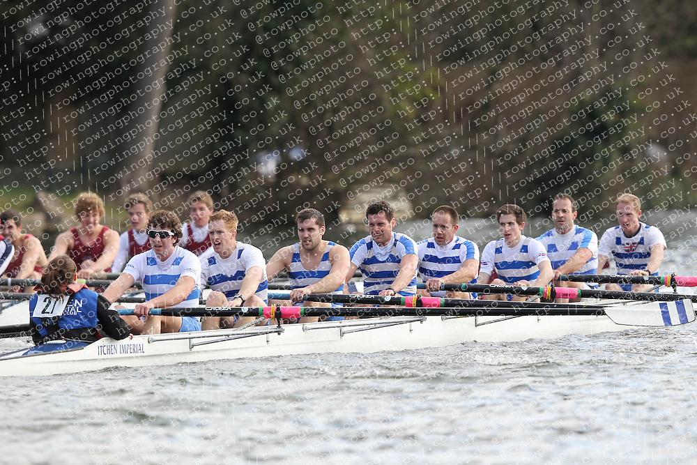 2012.02.25 Reading University Head 2012. The River Thames. Division 1. Itchen Imperial Rowing Club IM1 8+