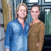NLD/Amsterdam/20130903 - Inloop premiere Stiletto 2, Joelle de Tombe en partner