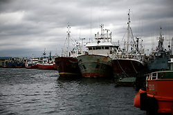 SPAIN GALICIA OZA 25AUG11 - Abandoned fishing vessels, mostly registered in the UK lie abandoned in the port of Oza in La Coruna, Galicia, Spain.....jre/Photo by Jiri Rezac....© Jiri Rezac 2011