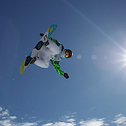 Cai Xuetong, China, in action during the Women's Half Pipe Finals at the Burton New Zealand Open 2011 held at Cardrona Alpine Resort, Wanaka, New Zealand, 13th August 2011. Photo Tim Clayton
