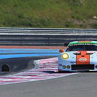#86, Porsche 911 RSR, Gulf Racing, driven by Michael Wainwright, Adam Carroll, Ben Barker, FIA WEC Prologue Circuit Paul Ricard, 26/03/2016,