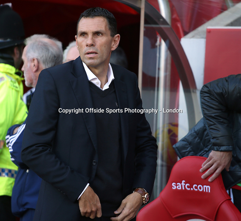 25 October 2014 Premier League Football Sunderland v Arsenal ; Sunderland manager Gus Poyet.<br /> Photo: Mark Leech