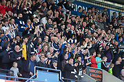 Dundee fans at the end - Kilmarnock v Dundee in the Ladbrokes Scottish Premiership at Rugby Park, Kilmarnock, Photo: David Young<br /> <br />  - &copy; David Young - www.davidyoungphoto.co.uk - email: davidyoungphoto@gmail.com
