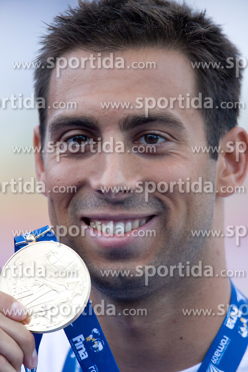 Milorad Cavic of Serbia at victory ceremony after he won in the Men's 50m Butterfly Final during the 13th FINA World Championships Roma 2009, on July 27, 2009, at the Stadio del Nuoto,  in Foro Italico, Rome, Italy. (Photo by Vid Ponikvar / Sportida)