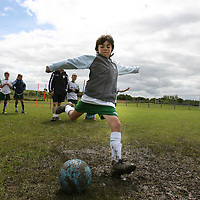 David Hanley taking part in the FAI Soccer Camp at Ballycasey on Friday last.<br /> <br /> Photograph by Eamon Ward