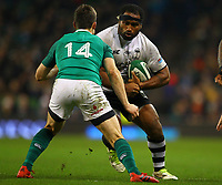 Rugby Union - 2017 Guinness Series (Autumn Internationals) - Ireland vs. Fiji<br /> <br /> Talemaitoga Tuapati (Fiji) in action against Darren Sweetnam (Ireland), at the Aviva Stadium.<br /> <br /> COLORSPORT/KEN SUTTON