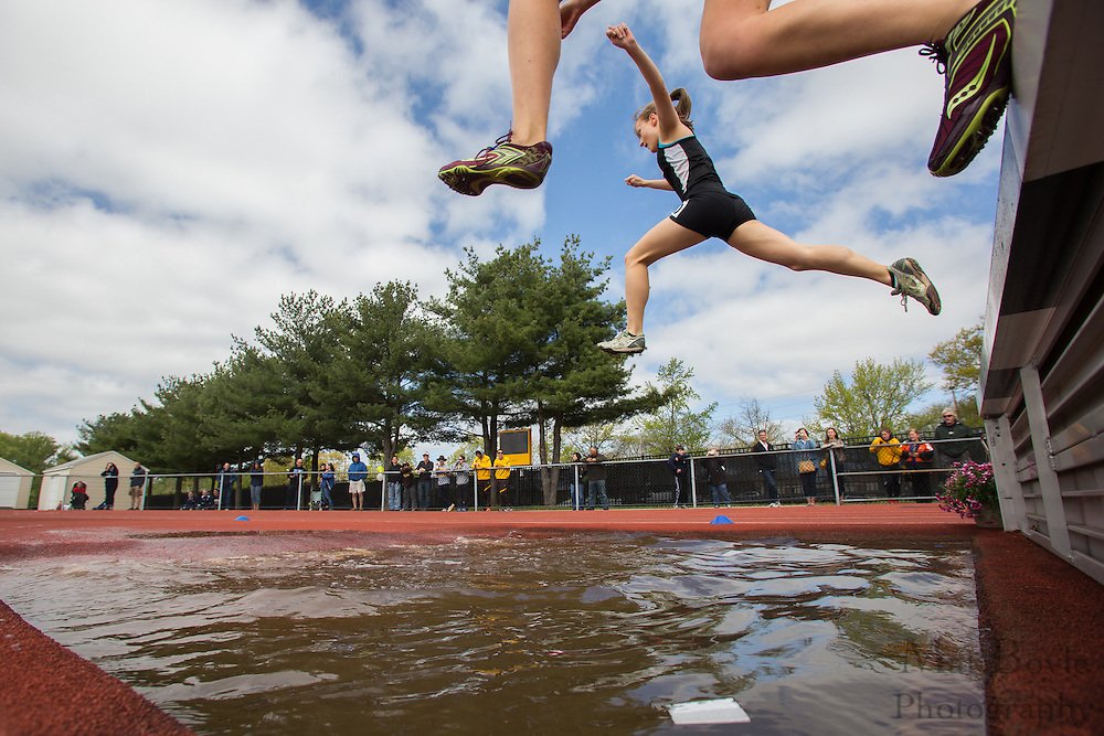 3000 meter Women's steeplechase at the NJAC Track and Field Championships at Richard Wacker Stadium on the campus of  Rowan University  in Glassboro, NJ on Sunday May 5, 2013. (photo / Mat Boyle)