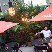 August 18, 2012 - New Rochelle, NY : Posto 22, located at 22 Division Street in New Rochelle, NY, serves gourmet Italian cuisine. Pictured here, the restaurant has a small outdoor seating area. CREDIT: Karsten Moran for The New York Times.