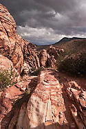 Rain Clouds over Calico Hills, Red Rock Canyon, Nevada