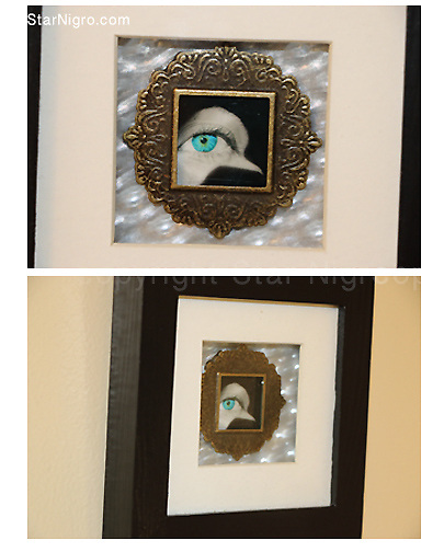 title: Bird eye view by Star Nigro<br /> <br /> dimensions: 3&quot;x2&quot;x3&quot;<br /> <br /> materials: photography &amp; mixed media in box frame<br /> <br /> price: for sale (shopping cart available)<br /> <br /> +created &amp; designed photo sculpture by Star Nigro exclusively<br /> <br /> www.StarNigro.com