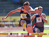 PORT ELIZABETH, SOUTH AFRICA, Friday 13 April 2012, LJ van Zyl in the 400m hurdles during the Yellow Pages South African Senior and Combined Events Championships held at the Xerox Nelson Mandela Metropolitan University, Nelson Mandela Bay..Photo by Roger Sedres/Image SA/ASA