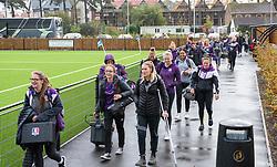 Loughborough Lightning players arrive at Shaftesbury Park - Mandatory by-line: Paul Knight/JMP - 28/09/2019 - RUGBY - Shaftesbury Park - Bristol, England - Bristol Bears Women v Loughborough Lightning  - Tyrrells Premier 15s