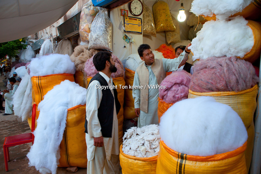 cotton-shop in herat, Afghanistan