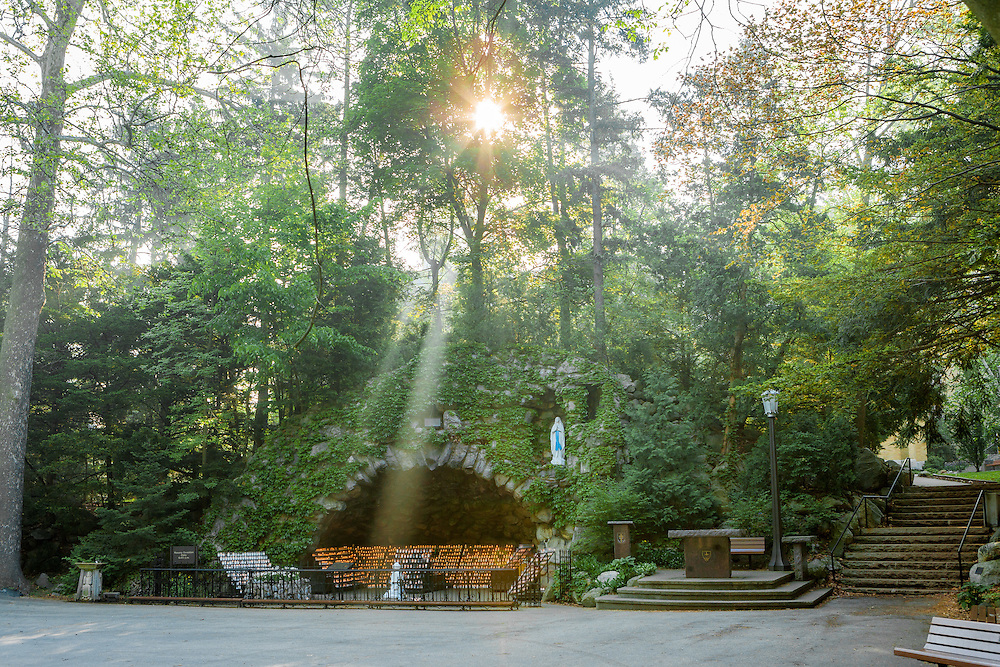 May 10, 2007; Misty sunrise at the Grotto. (Photo by Matt Cashore)