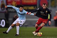 Marco Parolo Lazio, Goran Pandev Genoa <br /> Roma 05-02-2018 Stadio Olimpico Football Calcio Serie A 2017/2018 Lazio - Genoa . Foto Andrea Staccioli / Insidefoto