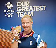 Olympic Games  London 2012<br /> Team GB Press Conference <br /> 10th August 2012<br /> Team GB House, Stratford, London, Great Britain <br /> <br /> Laura Bechtolsheimer Dressage Bronze and Gold medalist<br /> <br /> <br /> Charlotte Dujardin Dressage double gold medal at London 2012 <br /> in the individual &amp; team dressage event.<br /> <br /> Photograph by Elliott Franks