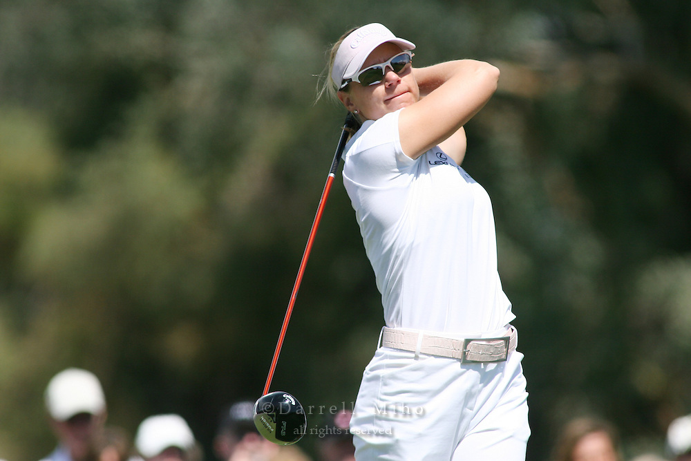 Apr. 1, 2006; Rancho Mirage, CA, USA; Annika Sorentstam tees off during the 3rd round of the Kraft Nabisco Championship at Mission Hills Country Club. ...Mandatory Photo Credit: Darrell Miho.Copyright © 2006 Darrell Miho .