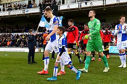 Mascot walk out  - Mandatory by-line: Dougie Allward/JMP - 02/12/2017 - FOOTBALL - Memorial Stadium - Bristol, England - Bristol Rovers v Rotherham United - Sky Bet League One