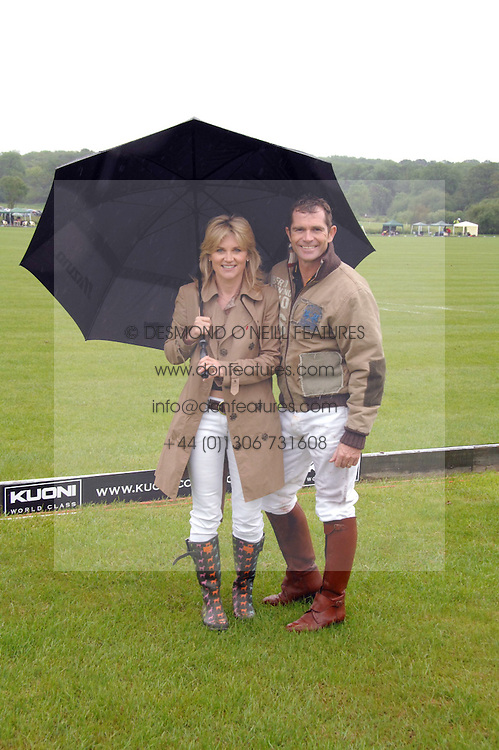 GRANT BOVEY and his wife TV presenter ANTHEA TURNER at the Kuoni World Clas Polo Cup in aid of Breast Cancer Care held at Hurtwood Park Polo Club, Ewhurst, Surrey on 27th May 2007.<br />