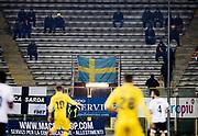 PARMA 2016-12-23:  REPORTAGE PARMA CALCIO.<br /> En svensk flagga under matchen mellan Parma Calcio och Modena p&aring; Stadio Ennio Tardini.<br /> Foto: Nils Petter Nilsson