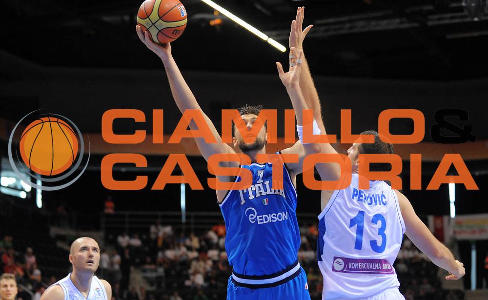 DESCRIZIONE : Siauliai Lithuania Lituania Eurobasket Men 2011 Preliminary Round Serbia Italia Serbia Italy<br /> GIOCATORE : Andrea Bargnani<br /> SQUADRA : Italia Italy<br /> EVENTO : Eurobasket Men 2011<br /> GARA : Serbia Italia Serbia Italy<br /> DATA : 31/08/2011 <br /> CATEGORIA : tiro<br /> SPORT : Pallacanestro <br /> AUTORE : Agenzia Ciamillo-Castoria/T.Wiedensohler<br /> Galleria : Eurobasket Men 2011 <br /> Fotonotizia : Siauliai Lithuania Lituania Eurobasket Men 2011 Preliminary Round Serbia Italia Serbia Italy<br /> Predefinita :