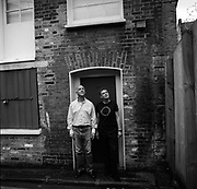 Ben Langlands and Nikki Bell, artists, at their studio in Whitechapel